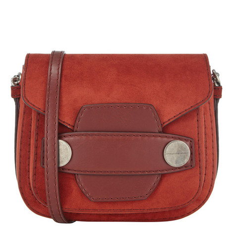 Alter Suede Saddle Bag Small, ${color}