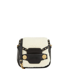 Faux Shearling Shoulder Bag