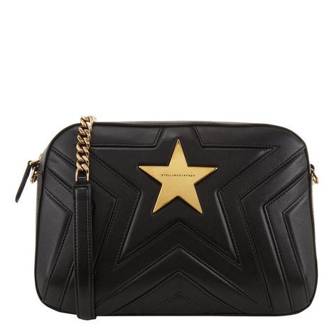 Quilted Star Shoulder Bag Medium, ${color}