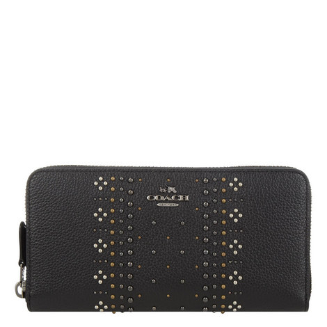 Studded Accordion Wallet, ${color}