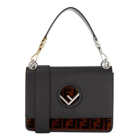 KAN I Textured Logo Shoulder Bag, ${color}