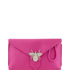 Edith Satin Clutch