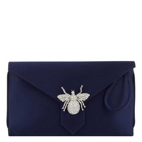 Edith Satin Clutch, ${color}