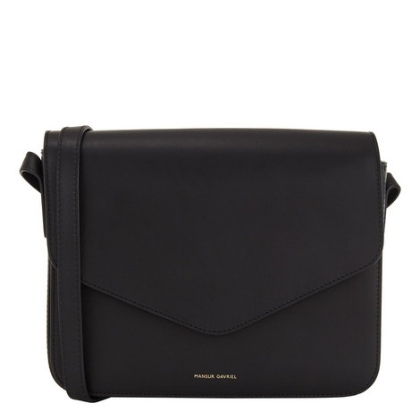 Envelope Leather Crossbody, ${color}