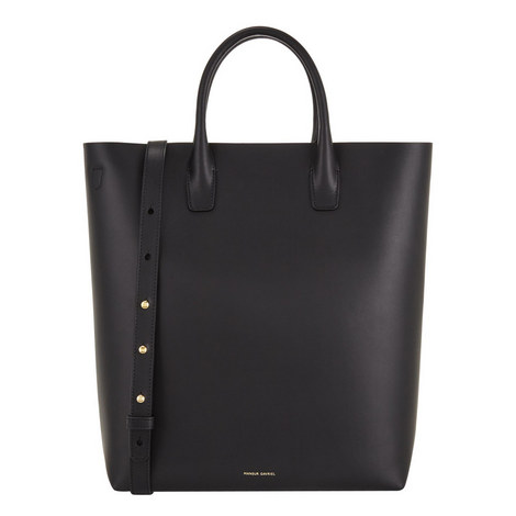 Open Top Leather Tote, ${color}