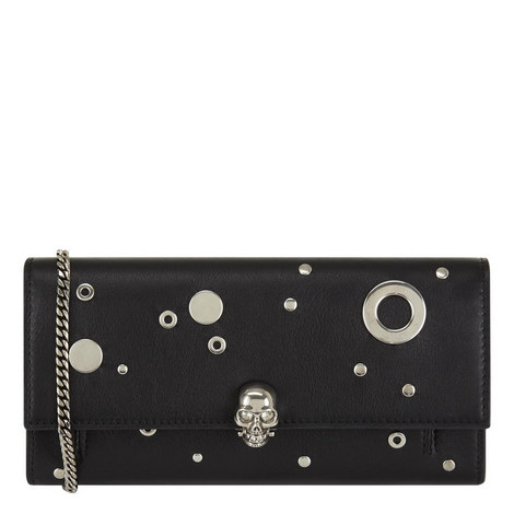Eyelet and Stud Chain Wallet, ${color}