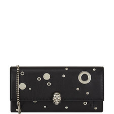Eyelet and Stud Chain Wallet
