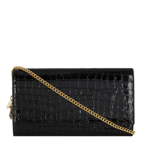 Croc Embossed Chain Wallet, ${color}