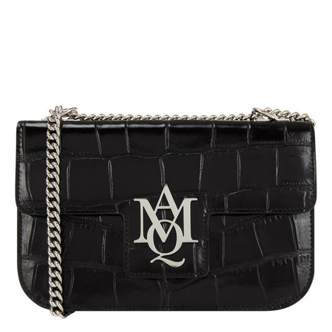 Croc Embossed Chain Bag, ${color}