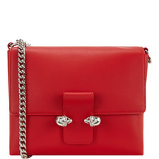Twin Skull Chain Satchel