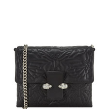 Twin Skull Quilted Satchel