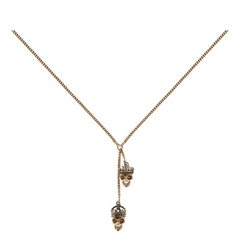 King And Queen Skull Pendant Necklace, ${color}