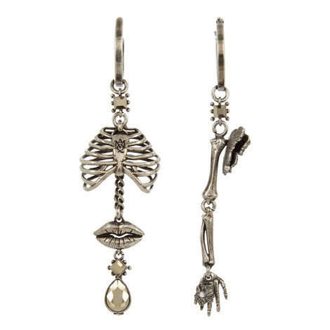 Skeleton And Butterfly Earrings, ${color}