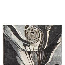 Marble Print Card Holder