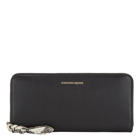 Zip-Around Leather Wallet, ${color}