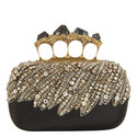 Bead and Pyrite Encrusted Clutch, ${color}
