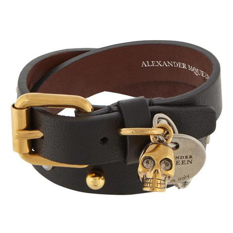 Double Wrap Leather Bracelet, ${color}