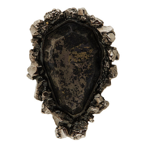 Pyrite Stone Double Ring, ${color}