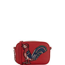 Rooster Appliqué Camera Bag