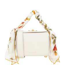 Scarf HandleBox Crossbody Bag