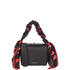 Scarf Handle Box Crossbody Bag