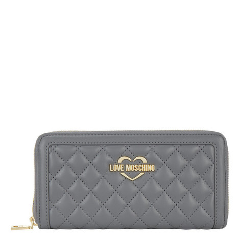 Quilted Zip-Around Wallet Large, ${color}