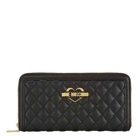 Quilted Zip-Around Wallet, ${color}