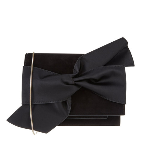 Bow Detail Suede Clutch Mini, ${color}