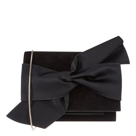 Bow Detail Suede Clutch Mini, ${color}