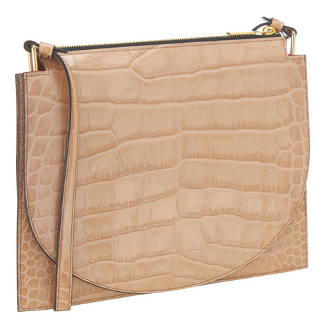 Croc Embossed Clutch, ${color}
