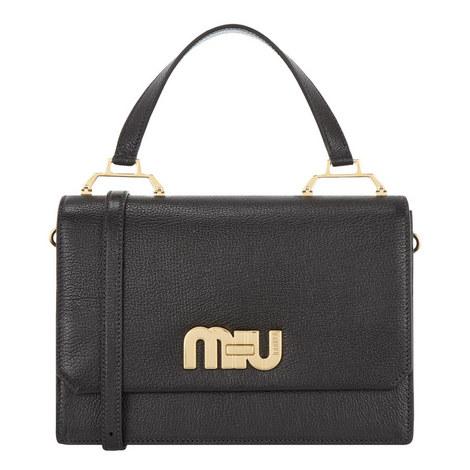 Madres Top Handle Logo Bag Medium, ${color}