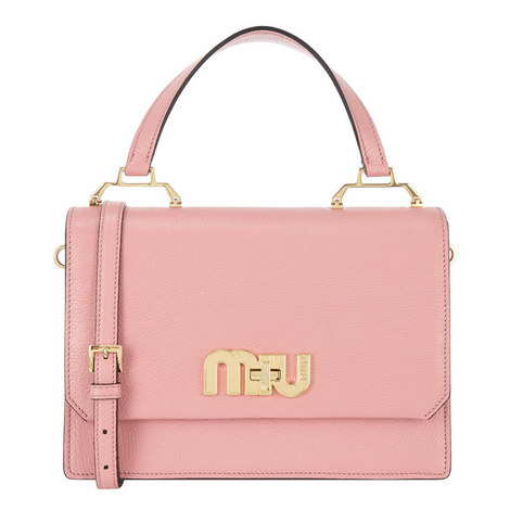 Madres Top Handle Logo Bag, ${color}