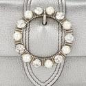 Jewel Circle Flap Bag Small, ${color}