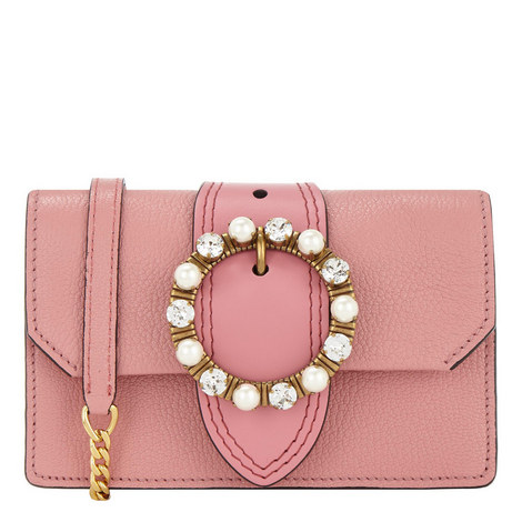 Jewel Circle Flap Bag Small, ${color}