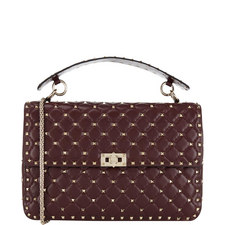 Rockstud Spike Shoulder Bag Large