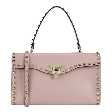 Rockstud Top Handle Bag Small, ${color}