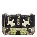 Floral Print Rockstud Shoulder Bag, ${color}