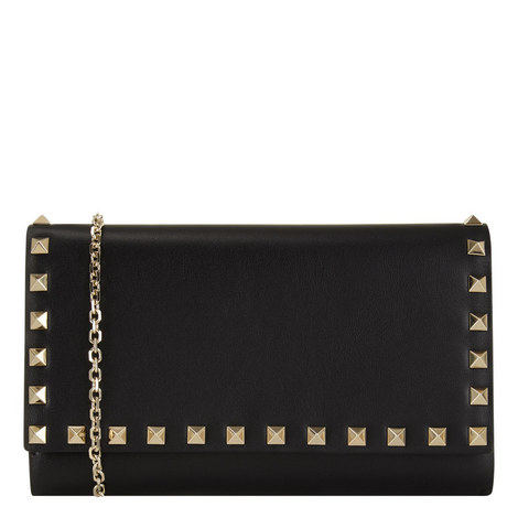 Rockstud Chain Shoulder Bag Mini, ${color}