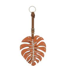 Leather Palm Leaf Bag Charm Large