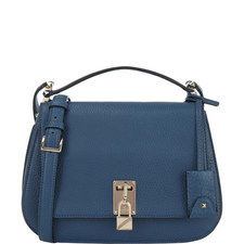 Piper Grained Leather Saddle Bag