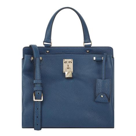 Piper Grained Leather Shoulder Bag Medium, ${color}