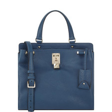 Piper Grained Leather Shoulder Bag Medium