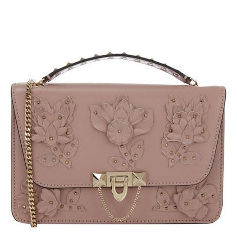 Demilune Floral Shoulder Bag, ${color}