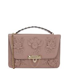 Demilune Floral Shoulder Bag