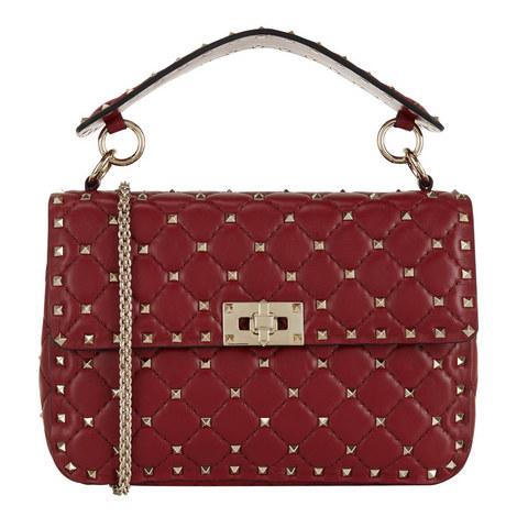 Studded Chain Shoulder Bag, ${color}