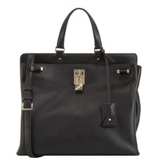 Piper Grained Leather Shoulder Bag Large