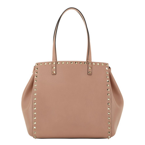 Double Handle Rockstud Bag, ${color}