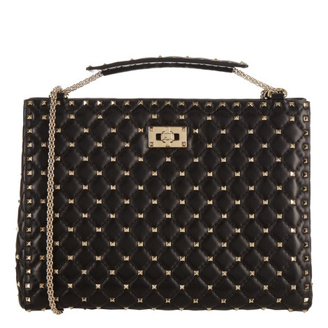 Rockstud Shopper Bag, ${color}