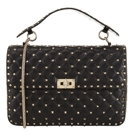 Rockstud Spike Chain Bag, ${color}