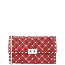 Free Rockstud Leather Clutch